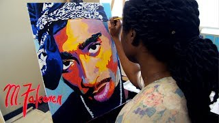 Tupac | M.Falconer | Time Lapse Painting