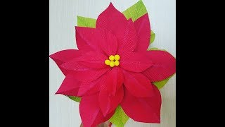 Paper Poinsettia Tutorial And Template Dreamyposy Paper Flower