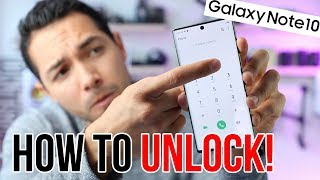 How To UNLOCK Samsung Galaxy Note 10! - Fast and Easy