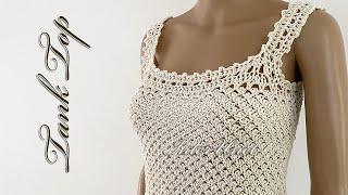 Tank Top Crochet Pattern Tutorial
