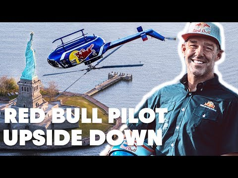 Red Bull Helicopter Flies Upside Down Over New York City