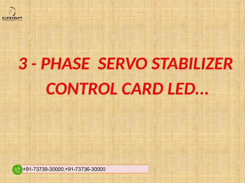 Single Phase Servo Stabilizer Control Card