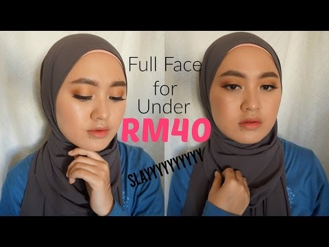 NOTHING OVER RM40 MAKEUP CHALLENGE | Malaysian Drugstore and Affordable Option