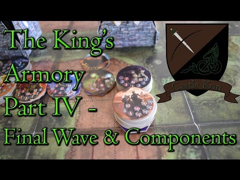 Board Game Playthrough : The King's Armory Part 4 - Final Wave & Components - Castle Kon