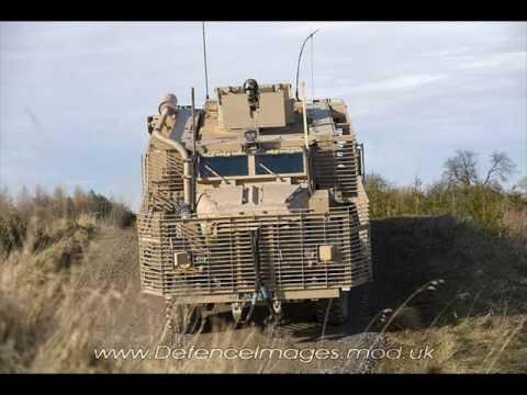 Наземная техника британской армии в Афганистане