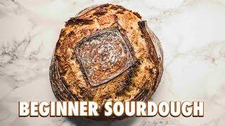 No Knead Beginner Sourdough Bread