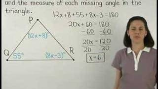 Angles Of A Triangle - Triangle Sum Theorem - MathHelp.com