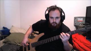 preview picture of video 'The Red Jumpsuit Apparatus - Waiting bass cover'