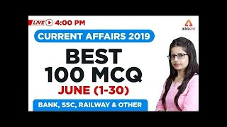 SBI PO Mains 2019  - Best 100 MCQ OF JUNE 2019 CURRENT AFFAIRS | IMPORTANT CURRENT AFFAIRS MCQ 2019
