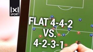 Football/ Soccer Tactics: 4-4-2 vs. 4-2-3-1
