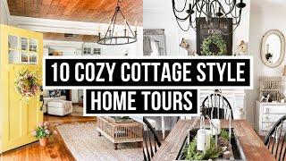 10 Antique Farmhouse Home Decor Tours // Farmhouse Styling On A Budget // Rustic Farmhouse Tours