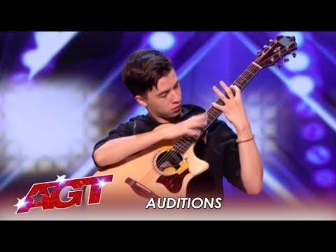 Marcin Patrzalek: Polish Guitarist MURDERS His Guitar! WOW! | America's Got Talent 2019 (видео)