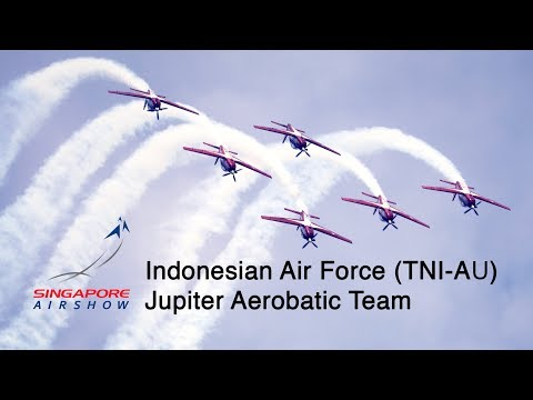 Singapore Airshow 2018 - Indonesian Air Force (TNI) Jupiter Aerobatic Team