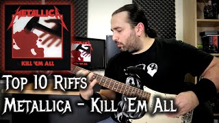 Top Ten Riffs – Kill 'em All (Metallica) – Guitar cover