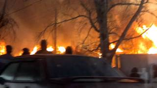 22 января пожар Николо-Павловское (напротив магазина)