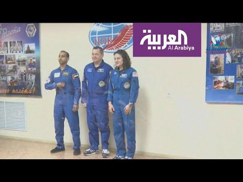 العرب اليوم - شاهد: أول رائد فضاء إماراتي يصل إلى المحطة الدولية