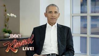 Obama se une a Jimmy Kimmel para el video del Día Mundial de la lucha contra el sida
