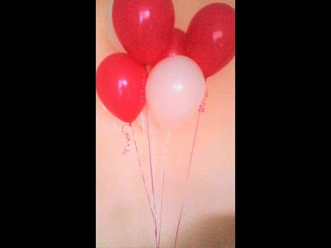 Geschenkidee mit Ballons/Geburtstag/Valentinstag...