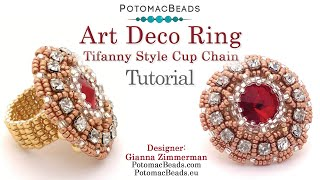 Make An 1920s Art Deco Cup Chain Ring- Jewelry Making Tutorial By PotomacBeads