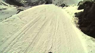 Спуск на сноуборде с Мира до Азау за 5:25 8.03.2014