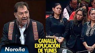 Explicación Canalla de Yunes sobre el Asesinato de Valeria Cruz Medel - Noroña