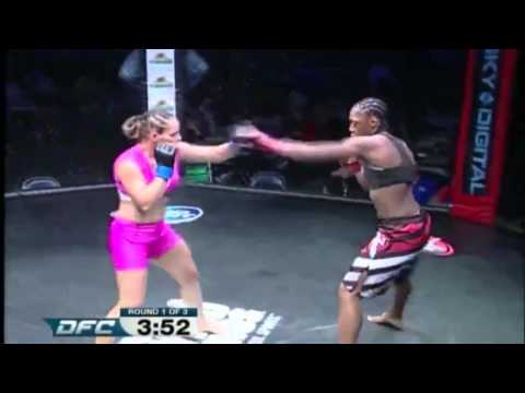 Marciea Allen vs Carina Damm - Dakota Fighting Championship - Spring Brawl 2015