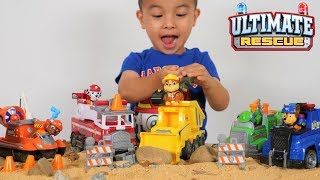 Ultimate Rescue Vehicles and Construction Pups Set PAW Patrol Toys Unboxing CKN Toys