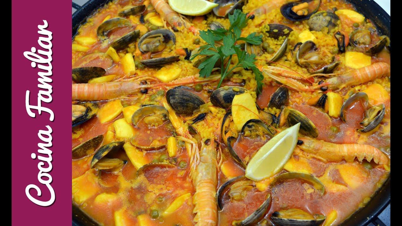 Como hacer una paella de marisco | Javier Romero