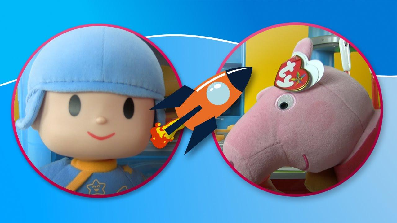 Peppa Pig y Pocoyo cocinan y se divierten juntos