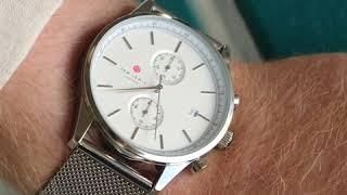 Sem Lewis Metropolitan Northwick Park kronografklocka för män silvergrå/silver