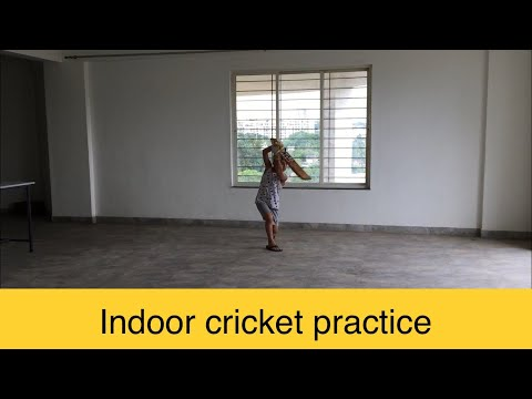Angad Thakur cricket practice indoor