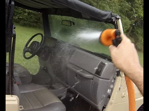 How to wash a Jeep Wrangler inside and out