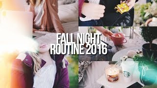 FALL NIGHT ROUTINE 2016 // spooky af