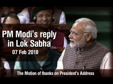 PM Modi's reply to the motion of thanks on the President's Address in the Lok Sabha