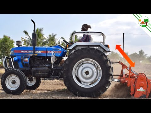 New Tractor | Powertrac EURO 50 HP with Rotavator | Come To Village