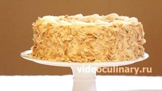 Смотреть онлайн Приготовление торта Нежность из бисквита и крема