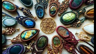Stone Macrame Necklace Tutorial. By Ester Malka. @malkamacrame On Instagram