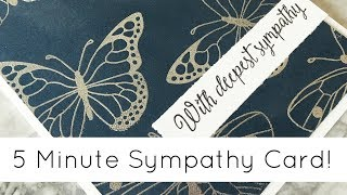 5 Minute Elegant Sympathy Card Tutorial