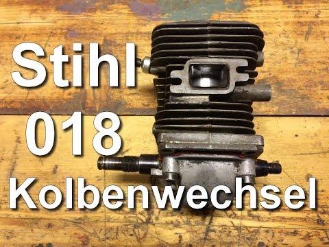 Stihl 018 Kolbenwechsel / Motorreparatur