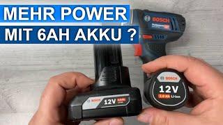 Hat der 12V Akkuschrauber von Bosch mehr Power mit 6Ah ❓