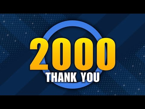 2000 Subscriber Contest, Giving Back to the Community, Thank You