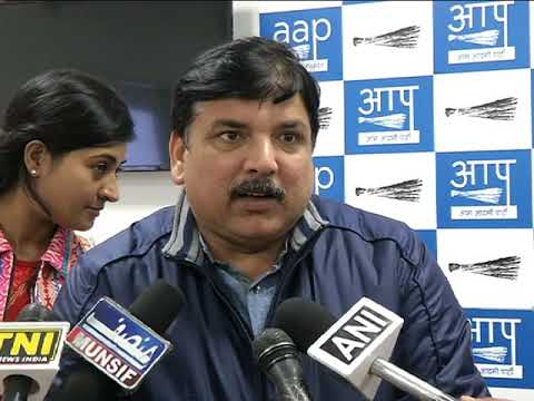 Aap Leader Sanjay Singh Briefs Media on 41 minor girls rescued from an Ashram in Rohini by DCW chief