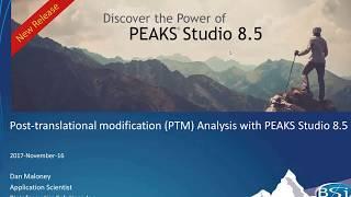PEAKS PTM Analysis Webinar