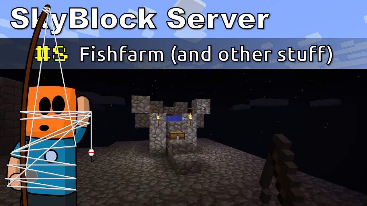 Minecraft SkyBlock ep8 | Fishfarm (and other stuff)
