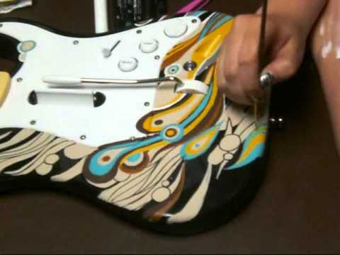 Can i use acrylic paint to paint my electric guitar for Custom acrylic paint