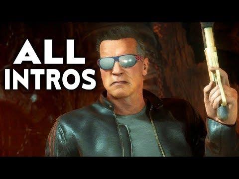 MORTAL KOMBAT 11 Terminator T-800 All Intros Dialogue Character Banter MK11