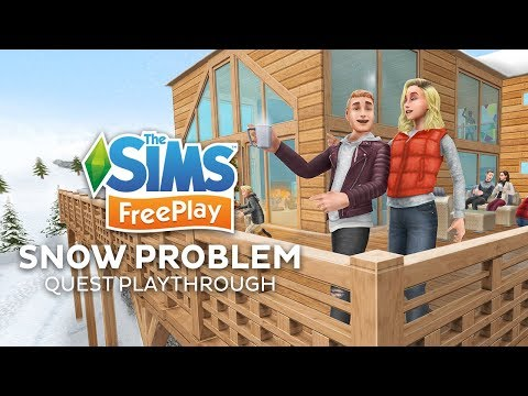 The Sims Freeplay Snow Problem Quest Playthrough
