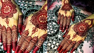 Back Hand Beautiful Henna Design -  Simple And Easy Mehndi Designs For Hands || Eid Mehndi Designs