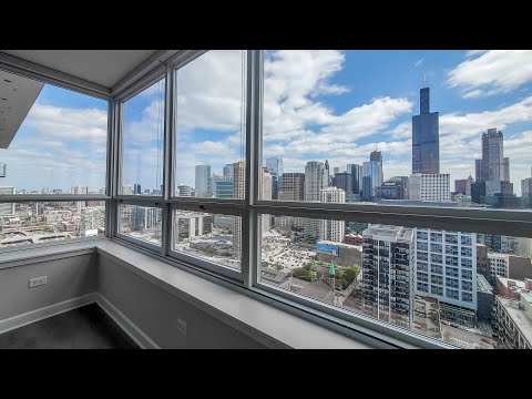 A West Loop skyline-view -05 1-bedroom at the full-amenity Arkadia
