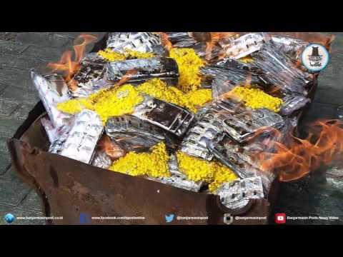 Video Polres HSU Musnahkan 1,4 Juta Butir Zenith dan Dextro